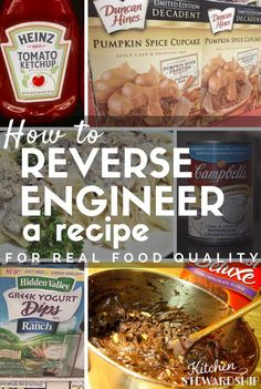 Cut out the processed ingredients and make your favorite recipes from real food instead... here's how to make-over your recipes!