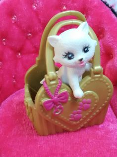 Doll house monster high barbie pet 1(ONE) white cat WITHOUT the bag