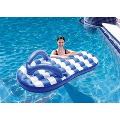 Blue Wave Marine Blue Flip Flop 71 in. Inflatable Pool Float - A true summer icon, the Polygroup Marine Blue Flip Flop 71 in. Inflatable Pool Float adds a touch of fun to any pool. This colorful inflatable is. Inflatable Pool Loungers, Inflatable Float, Jacuzzi, Cool Pool Floats, Pool Rafts, Blue Flip Flops, My Pool, Pool Fun, Beach Pool