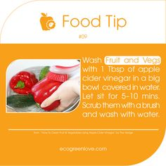 Food Tips 09 - Wash your fruits and vegetables with vinegar