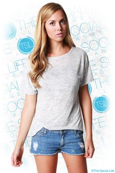 Alternative Apparel - Pony Backless Tee  An open, scooped back makes this fashion-forward short-sleeve tee anything but ordinary. Features a thin strap across the neck for added comfort and support. Made of sheer, soft Melange Heather Burnout for a vintage-inspired look and feel.