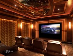 Media Man Cave Home Theater Projector Rooms Contemporary Home Theater  Designs | Home Decor Style | Pinterest | Theatre Design, Men Cave And  Contemporary