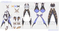 [AUCTION CLOSE]Outfit_40 by krianart on DeviantArt Fashion Design Drawings, Fashion Sketches, Anime Outfits, Cute Outfits, Anime Dress, Drawing Clothes, Character Outfits, Blue Butterfly, Character Design Inspiration
