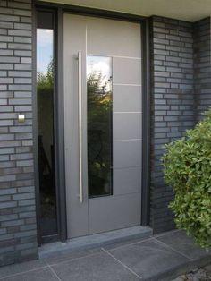 Affordable Modern Glass Door Designs Ideas For Your Home - Wohnen - Door Design Modern Entrance Door, Modern Front Door, House Front Door, House Doors, House Entrance, Entrance Doors, Main Door Design, Front Door Design, Modern Door Design