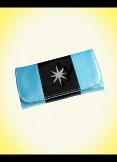 LUX DE VILLE  Starlite Wallet in Blue Sparkle from Lux de Ville...I had to have this wallet to match my purse.