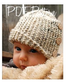 Knitting PATTERN-The Baby Poppy Cloche' (0/3-3/6-6/12 month sizes) also can be Made to Order. $5.50, via Etsy.