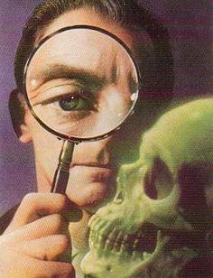 Peter Cushing and a Skull