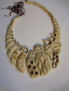 Sona Grigoryan, polymer clay necklace.