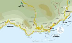 Walking Paths Map - Monastero Santa Rosa