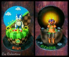 Sonic & Majora Mask - Cake by La Cabotine