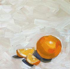 "Daily Paintworks - ""How You Slice It"" - Original Fine Art for Sale - © April Hopkins"
