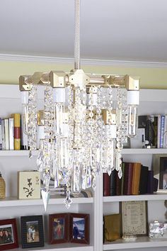 McHale Grand Chandelier in library