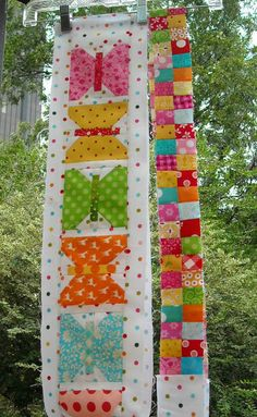 I love the polka dotted background!! by Bev Bryan by 44th Street Fabric Fan, via Flickr