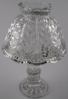 "tealight lamps | Crystal Candle Votive 2 Piece Fairy Lamp - Vintage - 9"" Tall"