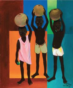 The Water Carriers, Haiti (1985). Painting by Lois Mailou Jones. Lois Mailou Jones came to fame as a painter during the latter stages of the Harlem Renaissance in the 1930s. In addition to being a painter with many diverse styles, she was a talented textile designer and did a number of book and magazine covers. There's a wonderful website filled with rich imagery and details about her life: http://www.loismailoujones.com/.