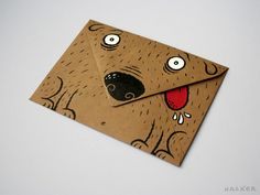 doggie envelope mail art