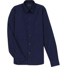 chemise toto bleue breton Denim Button Up, Button Up Shirts, Shirt Dress, Collection, Mens Tops, Dresses, Fashion, Make A Shirt, Blue