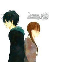 Render Animes et Manga - Renders Tonari No Kaibutsu Mizutani Shizuku Yoshida Haru Garcon Fille Uniforme Couple