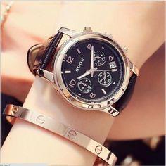f6d73b0e0e8e Brand Watches Women Genuine Leather Watch