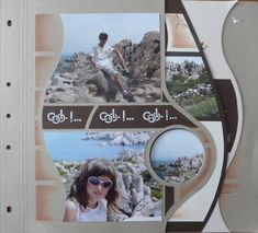 Pre-cut pages. Scrapbooking Layouts, Scrapbook Pages, Page Layout, Project Life, Photo Book, Rio, Mosaic, Polaroid Film, Album