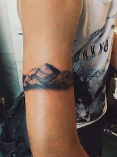 Rock climbing tattoo