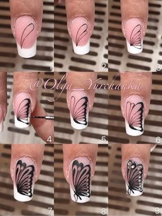 Our goal is to keep old friends, ex-classmates, neighbors and colleagues in touch. Butterfly Nail Designs, Butterfly Nail Art, Diy Nail Designs, Nail Art Diy, Diy Nails, Cute Nails, Pretty Nails, Nail Art Techniques, Nail Patterns