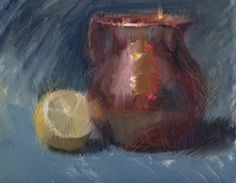 Copper Reflections by Judy Crowe Oil ~ 8 x 10