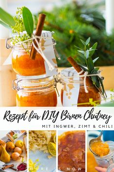 DIY Birnen Chutney mit Ingwer und Zimt – ho(t), ho(t), ho(t) - More is Now Chutneys, Ketchup, Chili Chutney, Mayonnaise, Olives, Healthy Omelette, Pesto Hummus, Gourmet Recipes, Healthy Recipes