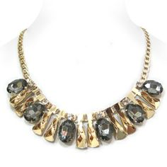 Sapphire Blue Crystal Chunky Statement Necklace Set Elegant Costume Jewelry | ? Accessorize My Way ? | Pinterest | Blue crystals Costume jewelry and ...  sc 1 st  Pinterest & Sapphire Blue Crystal Chunky Statement Necklace Set Elegant Costume ...