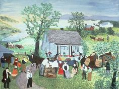 Grandma Moses - Moving Day on the Farm, 1951
