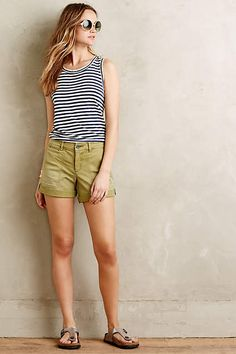Pilcro Hyphen Distressed Chino Shorts - anthropologie.com #anthrofave