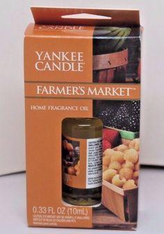 "YANKEE CANDLE ""Farmer's Market"" Home Fragrance Oil 0.33 fl. oz. #YankeeCandle"