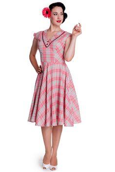 Bunny Carol Dress Mixi Plaid Retro Outfits 36b03d3825524