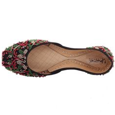 Womens 'Mellisa' Decorated Leather Indian Khussa Bride Slippers, Birkenstock, Slip On, Comfy, Pumps, Indian, Sandals, Chic, How To Wear