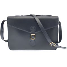 Ettinger London Luxury Leather Metropolitan Navy Jubilee Satchel