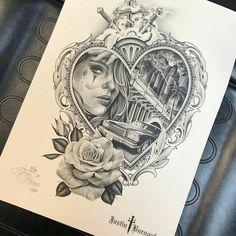 Новости Chicano Tattoos Sleeve, Best Sleeve Tattoos, Leg Tattoos, Body Art Tattoos, Diadem Tattoo, Tattoo Sketches, Tattoo Drawings, Tattoo Studio, Rosen Tattoo Frau
