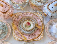 Vintage Tea Trio & Dessert Plate
