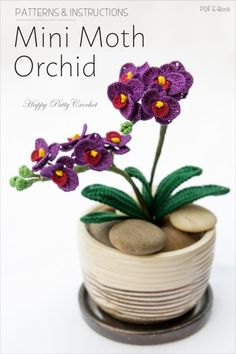 Crochet Mini Orchid Pattern by Happy Patty Crochet