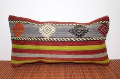 "Hand made anatolian kilim pillow case,vintage kilim pillow,pillow cover,designer pillow,antique kilim11""1/2X22""pillow-R21 by hubNconceptArtisans on Etsy https://www.etsy.com/listing/236748028/hand-made-anatolian-kilim-pillow"
