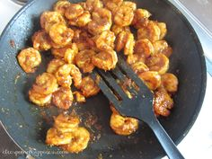 Spicy & Sweet Morocan Shrimp - A Teaspoon of Happiness
