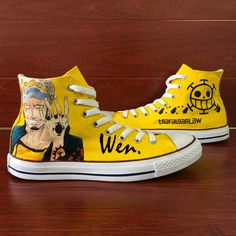 Cheap high canvas sneakers, Buy Quality sneakers designer directly from  China sneakers sneakers Suppliers: Wen Anime Hand Pained Yellow Canvas Shoes  Design ...