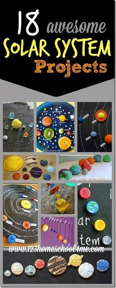 18 solar system projects for kids - These are such creative science projects for kids of all ages to explore planets, space, the sun and more! Science Activities for Kids Solar System Projects For Kids, Science Projects For Kids, Space Projects, Preschool Science, Elementary Science, Space Crafts, Science For Kids, Preschool Kindergarten, Science Art