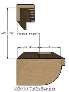 Closet gun rack plan.