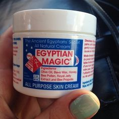 Dry, red and peeling noses from sniffing and nose blowing during allergy season can be healed with Egyptian Magic. Just sleep with it on and it'll be back to normal the next morning!