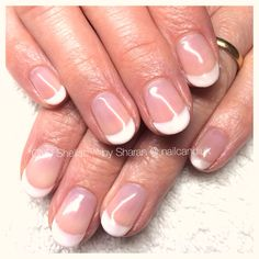 Elegant American Manicure - CND Shellac. American Manicure, Cnd Shellac, Manicure And Pedicure, Manicures, Cosmetics, Elegant, Wedding, Beauty, Nail Salons