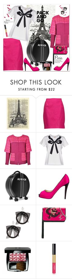 """Je T'aime Paris!"" by loveroses123 ❤ liked on Polyvore featuring Chanel, Marc by Marc Jacobs, Ookonn, Christian Louboutin, Fallon, Les Petits Joueurs, parisfashionweek and Packandgo"