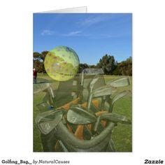 Golfing_Bag,_ Greeting Card