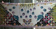 """Syal """"tulip"""" batik tulis painting"""