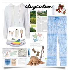 """Staycation"" by judysingley-polyvore ❤ liked on Polyvore featuring Monrow, Clarins, Lapcos, Spectrum, Christophe Robin, Slip, Laneige, Celebrate Shop, Vans and Jax and Bones"