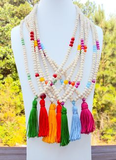 Mala Inspired Tasseled Necklace - Handmade by Neet Jewelry $28 each
